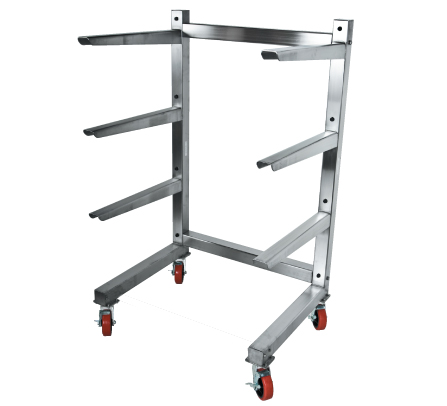 CANTILEVER STORAGE RACK WITH CASTERS
