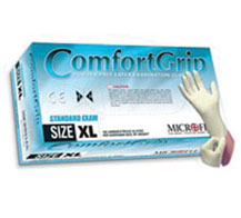 ComfortGripTM LATEX, POWDER FREE GLOVES