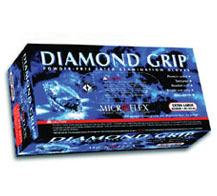 Diamond GripTM NATURAL LATEX, POWDER FREE