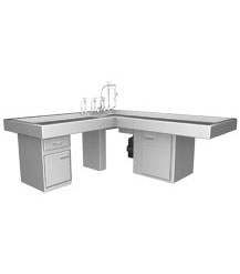 L SHAPED AUTOPSY TABLE